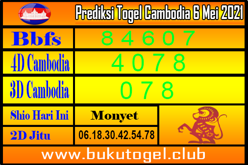 Prediksi Togel Cambodia 6 Mei 2021