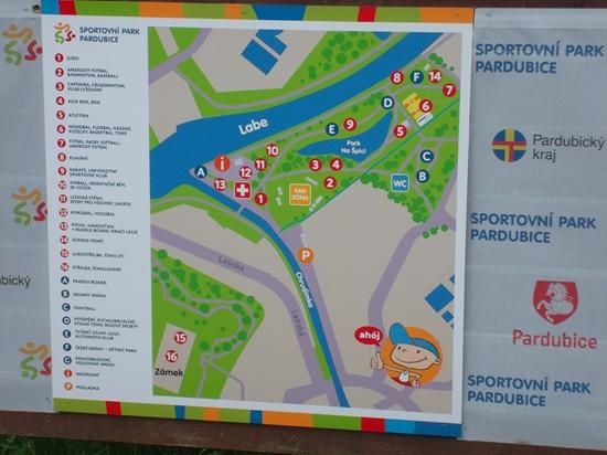 Mapa sportovního parku