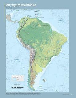 Apoyo Primaria Atlas de Geografía del Mundo 5to. Grado Capítulo 2 Lección 2 Ríos y Lagos en América del Sur