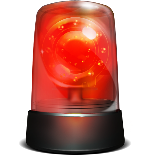 Red beacon light, Siren Alarm device Computer Icons Fire alarm system, Alarm Warning Robbery Siren Icon, orange, ambulance png free png