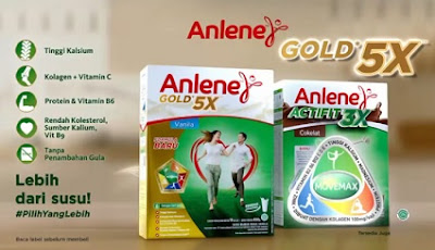 Anlene Actifit 3X dan Anlene Gold 5X formula baru