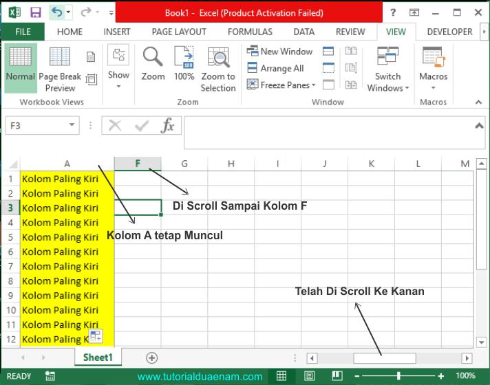 Membuat Judul Tabel Excel Tidak Bergerak Saat Di Scroll Dengan Fitur Frezee Tutorialduaenam