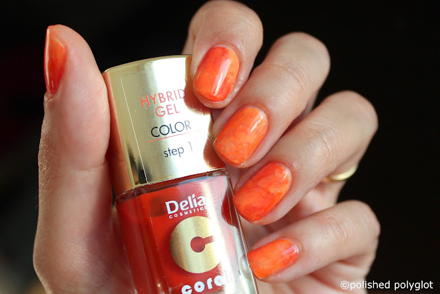 Nail art designs for short nails Orange saran wrap