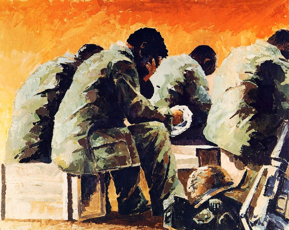 Easter Sunrise Base Camp, Vietnam 1967 by Michael R. Crook