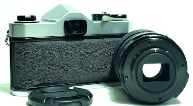 Asahi Pentax Spotmatic SP (Chrome) Body #666, Tefnon 35-70mm F2.5~3.5 Macro Zoom Lens #875