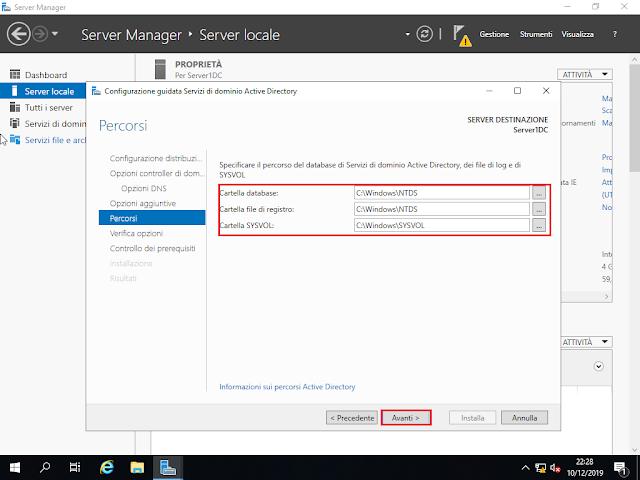 Windows Server 2019, Percorsi file Active Directory
