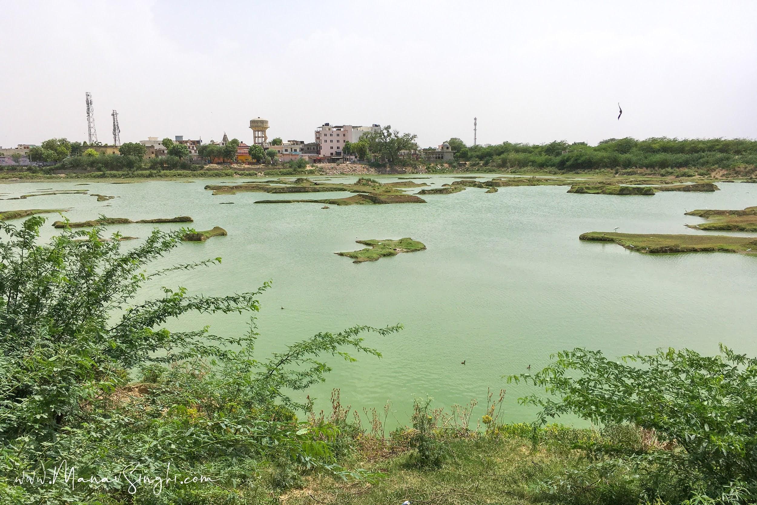 Muhana Village Lake, Sanganer Tehsil of Jaipur District.