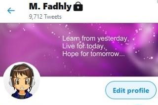 Mengubah Foto Profil Twitter Lewat HP
