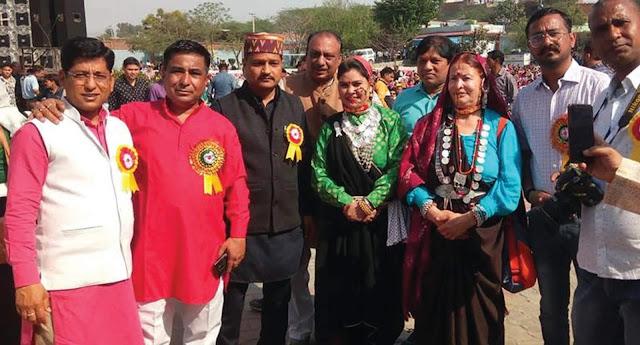 View of Uttarakhand at the Holi Meeting of Garhwal Sabha, Faridabad.
