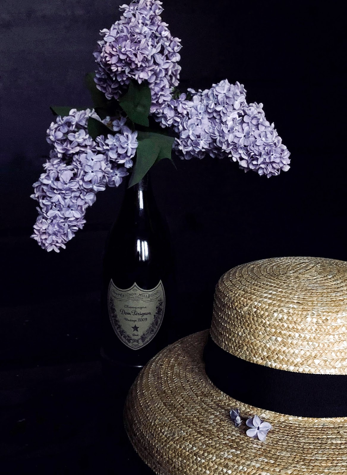 Lilac Sugar, Lilacs in Dom Perignon Vintage 2009 Bottle, missvoguevoyage, patricia petit, how to make lilac sugar, Lila sugar, floral sugar recipe, missvoguevoyage, Patricia Petit