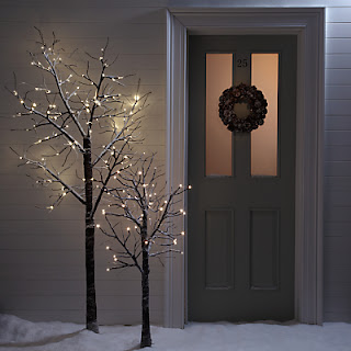 Outdoor prelit Snowy Christmas Tree by John Lewis