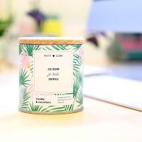 bougie personnalisée petit cube parfum vanille et cocotiers