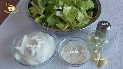 Supa de salata verde etapa 1