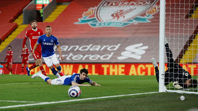 Liverpool goal keeper Alison saved brilliantly against Everton