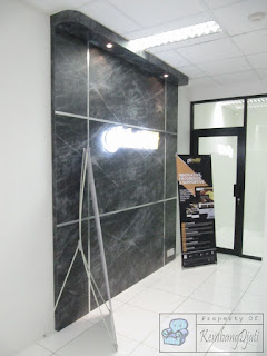 Desain Interior Semarang  Wall Backdrop ngan Font Timbul Menyala