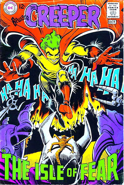 Beware the Creeper v1 #3 dc comic 1960s silver age comic cover art by Steve Ditko
