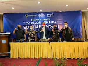 Deklarasi Pemuda Maju dan Gembira, Pendukung Siap Antarkan Edwin Khadafi Jadi Ketua DPD KNPI Kota Bandung 2021-2024