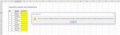 Cara Mengunci (Protect) Sheet di Ms Excel 2016