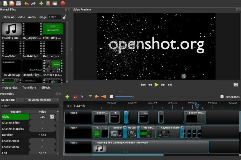 أفضل برنامج مونتاج OpenShot
