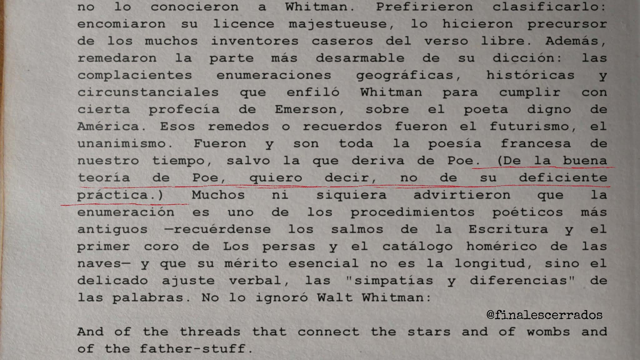 De la buena teoría de Poe