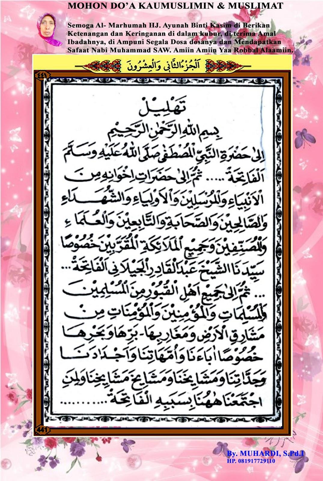Bacaan Yasin Tahlil Syalawat Dan Doa Lengkap Mis