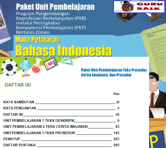 Download Modul PKP Guru SMP Mapel Bahasa Indonesia Edisi 2019/2020 pdf