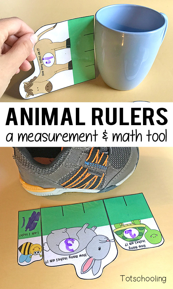 FREE animal themed printable rulers for kids to learn about measurement as well as math concepts like addition and subtraction. Great for preschool and kindergarten kids as an introduction to inches, rulers and measuring!