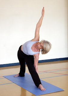 Triangle yoga position