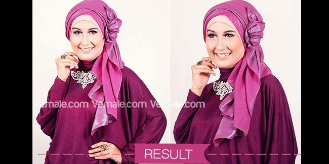 Cara Memakai Hijab Pashmina Metalik Untuk Kepesta - Cara