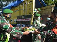 Kodim 0802/Ponorogo Kirim Bantuan Paket Sembako Untuk Korban Bencana Alam Gempa Bumi di Malang