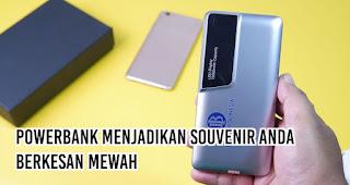 Powerbank Menjadikan Souvenir Anda Berkesan mewah merupakan salah satu keuntungan powerbank untuk promosi perusahaan