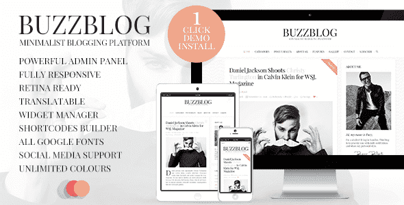 BuzzBlog v2.5 – Clean & Personal Blog WordPress Theme