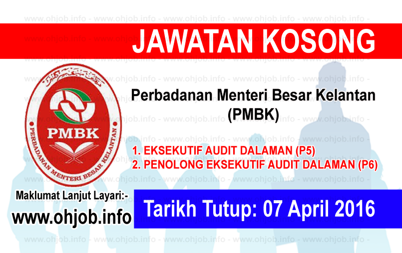 Jawatan Kerja Kosong Perbadanan Menteri Besar Kelantan (PMBK) logo www.ohjob.info april 2016