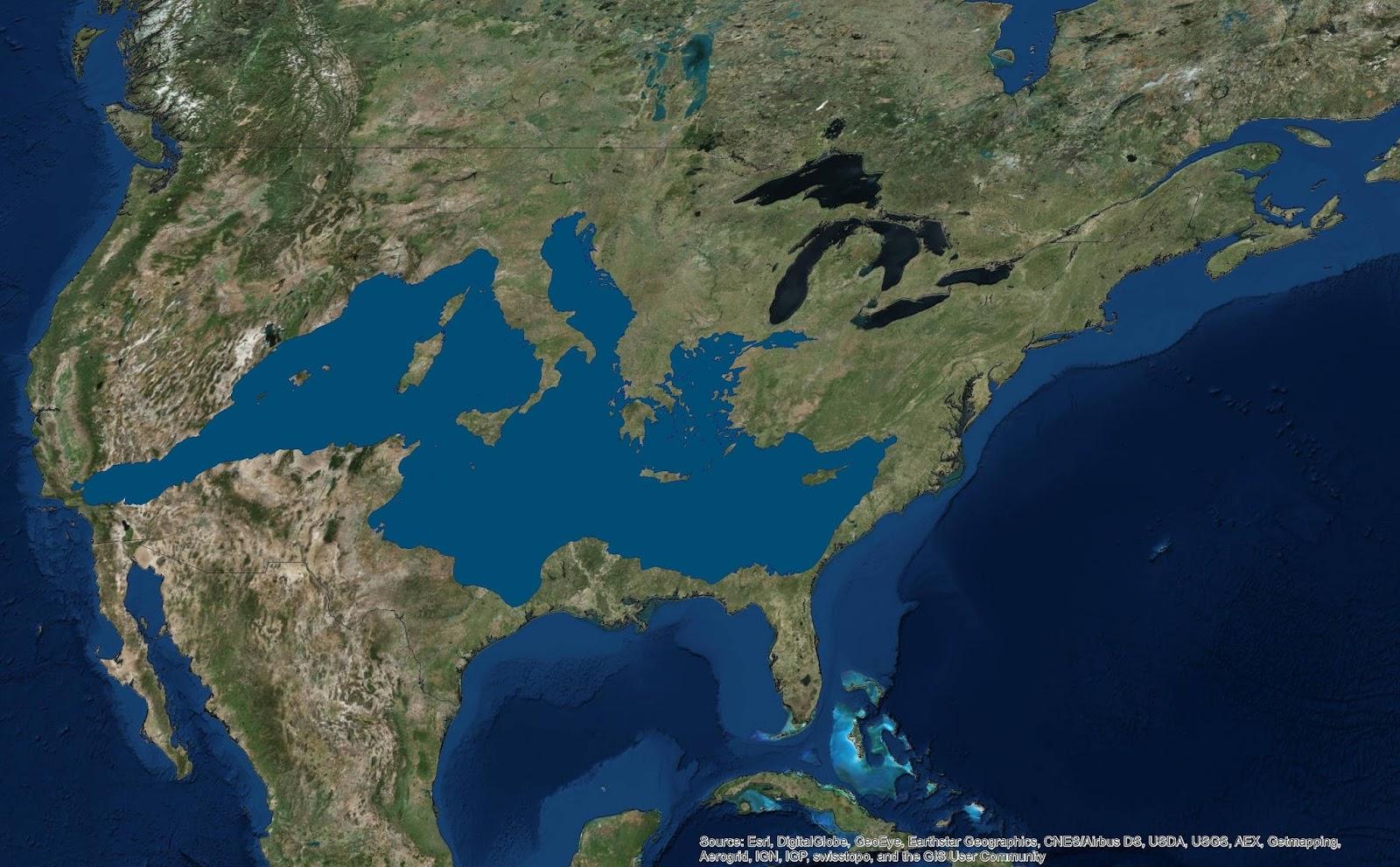 If the Mediterranean Sea were in the U.S.