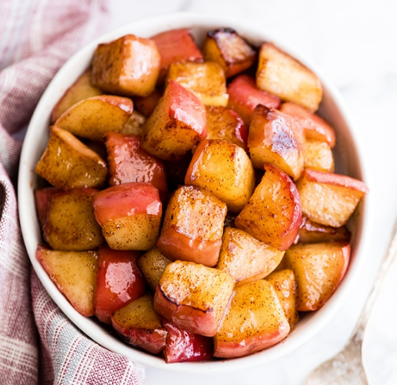 SAUTÉED CINNAMON APPLES #healthydiet #vegan #breakfast #easy #cinnamon