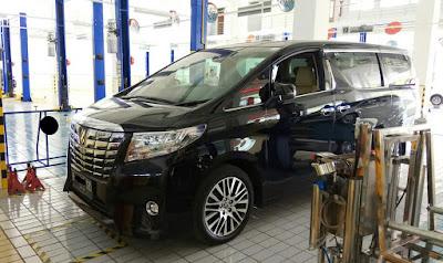 Biaya perawatan Toyota Alphard 2017
