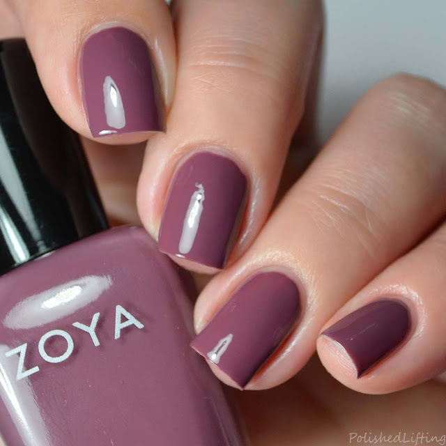 muted plum nail polish