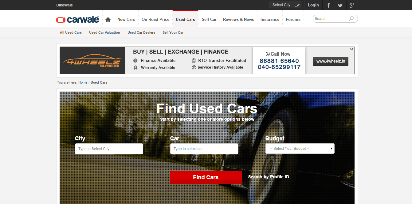 Reviews Of Various Used Car For Sale Websites