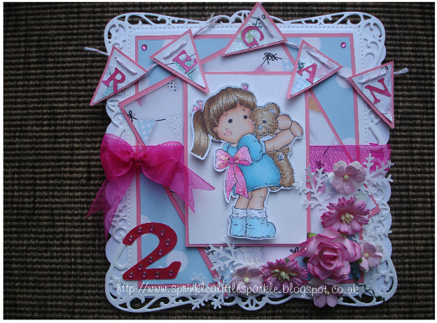 I Didnt Have Any Plans Specifically In Mind For The Card Towards End Thought It Would Be Perfect My Daughters Forthcoming 2nd Birthday
