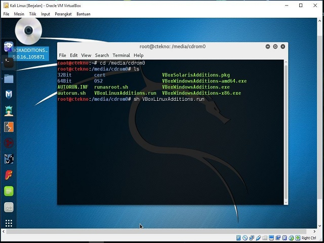 how to make virtualbox full screen kali linux