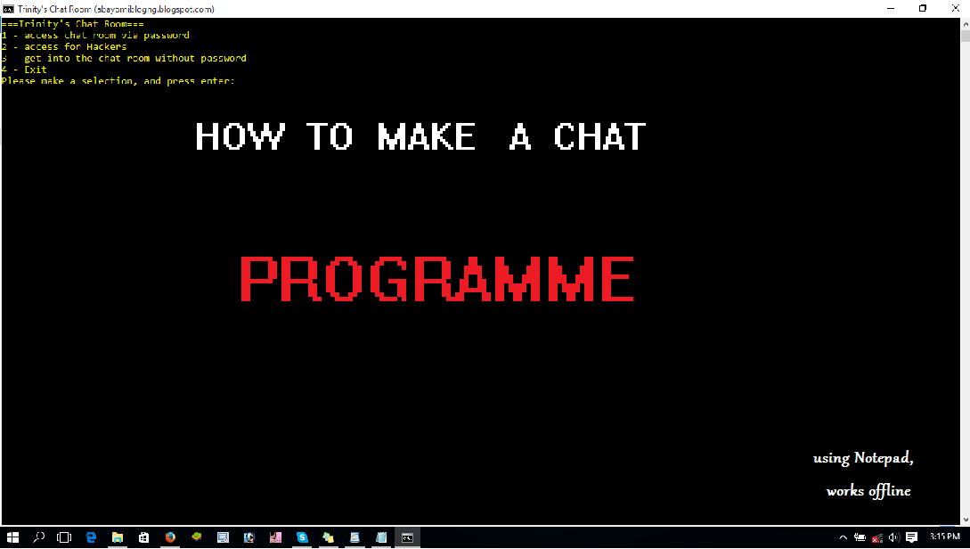 Computer Hackers Chat Room