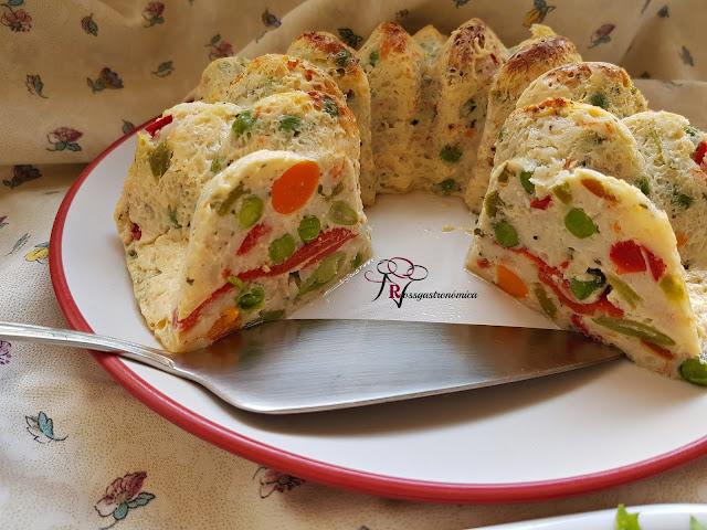 Puding de merluza con verduras