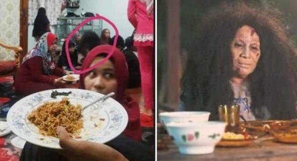 Penampakan Rambut Gimbal Saat Makan di Hari Raya