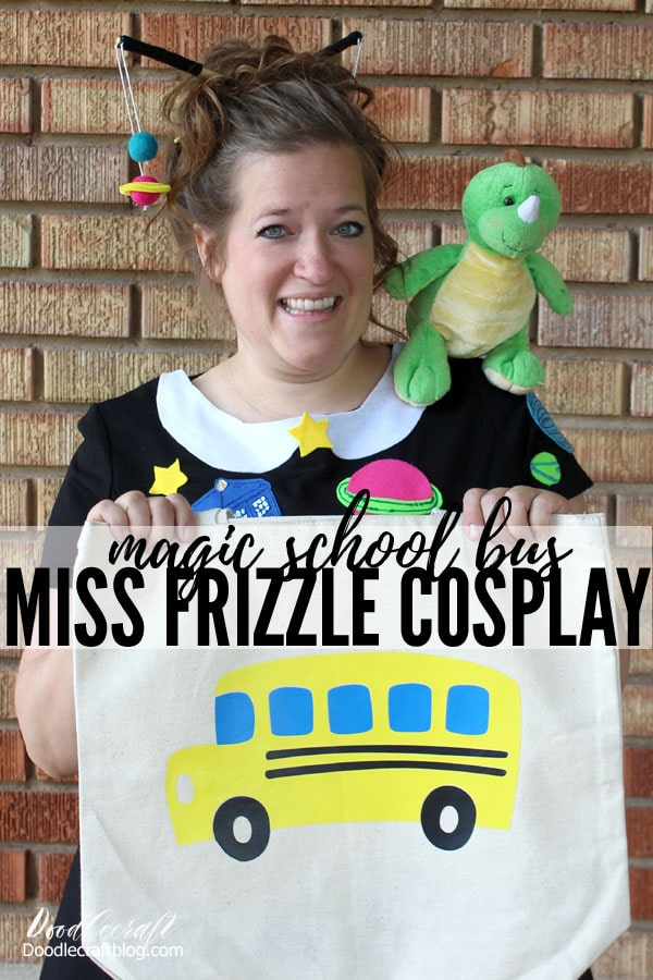 Miss Frizzle Magic School Bus Copslay Halloween Costume Space galaxy dress perfect for fan convention