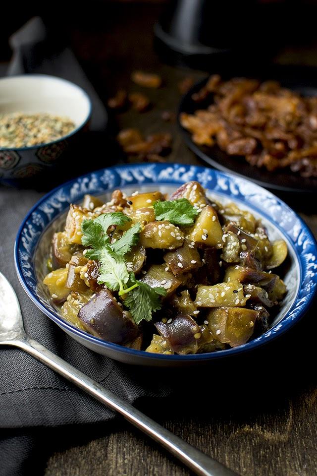Bengali Sweet & Sour Eggplant