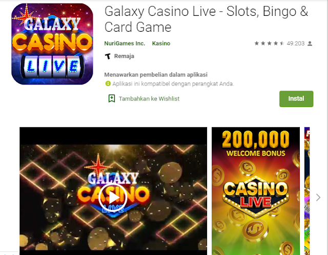 Game live casino android terpopuler