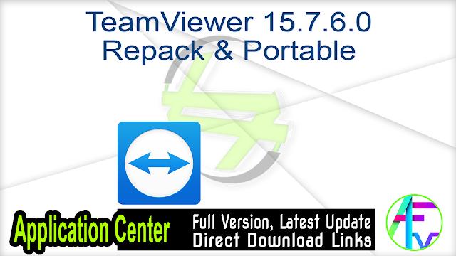 TeamViewer 15.7.6.0 Repack & Portable