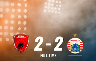 PSM Makassar vs Persija Jakarta 2-2 Highlights