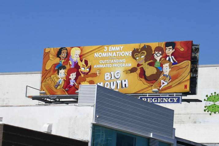 Big Mouth 2020 Emmy nominee billboard