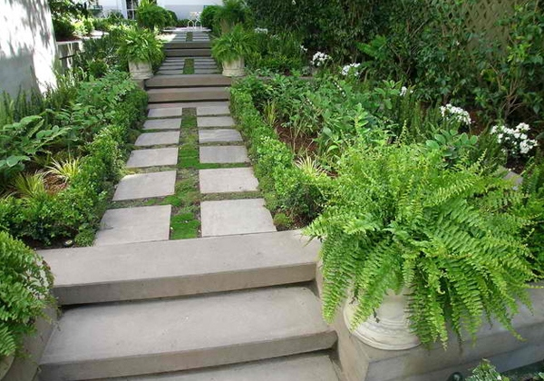 Inspirasi Desain Tangga untuk Taman Modern